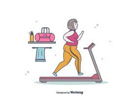 Vetor de mulheres gordas correndo