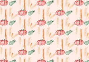 vettore sfondo zucca in autunno