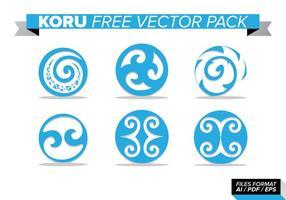 Koru paquete de vectores gratis