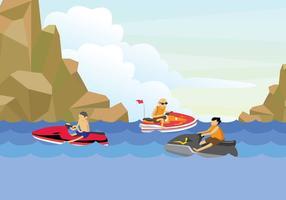 Ilustração gratuita do Jet Ski