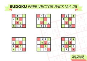 Sudoku Gratis Vector Pack Vol. 25
