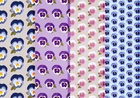 Pansies vector pattern