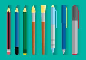 Vector de equipamentos de desenho