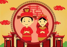 Free Chinese Wedding Illustration vector