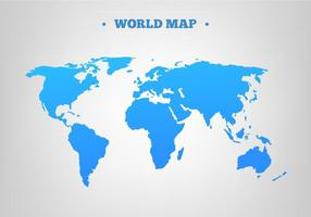 Carte vectorielle Blue World Map gratuite