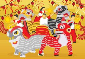 Gratis Lion Dance illustration