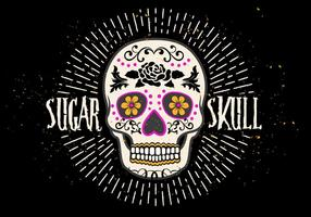 Bright Sugar Skull Vector Illustration