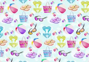 Free Vector Summer Seamless Pattern