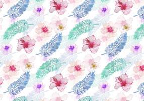 Vektor Sommer Nahtlose Blatt Muster