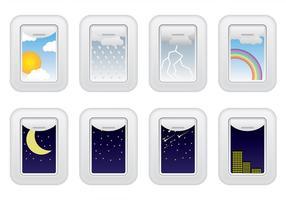 Vecteur de fenêtre d'avion