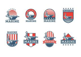 Aircraft Carrier Badge Vector Free