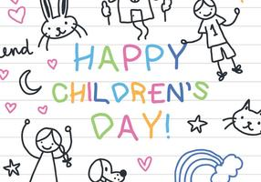 Children's Notebook Paper Vector