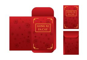 Gratis Red Packet Template Vector