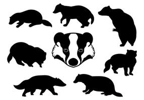 Gratis Honey Badger Ikoner Vector