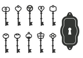 Klassieke sleutelvectoren vector