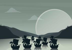 Gratis Viking Ship Illustratie