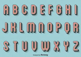 Libre Vector Retro letras