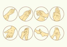 Reflexology Icon Set