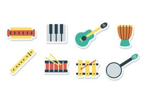 Free Harmonica Sticker Icons vector