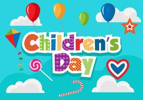 Free Children's Day Vector Illustration