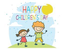 Vetor do dia das crianças