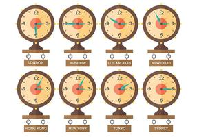 Free Time Zone Icons Vector