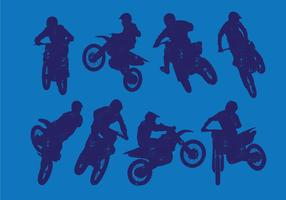 Dirt Bikes Silueta vector