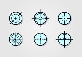 Laser-Tag-Ziel-Vektor-Set