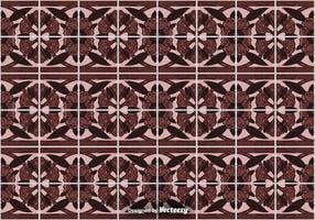 Tile Floor Background - Ornamental Vector Pattern