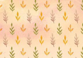 Patrón libre de las hojas de la acuarela del vector