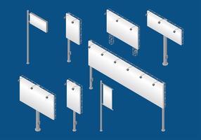 Hoarding Isometrische Vector