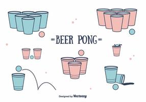 Bier Pong Vektor