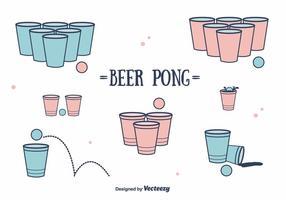 Cerveza Pong Vector