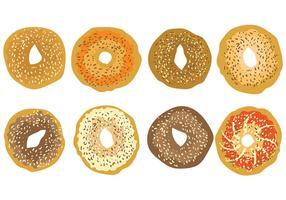 Vecteur icône bagel gratuit