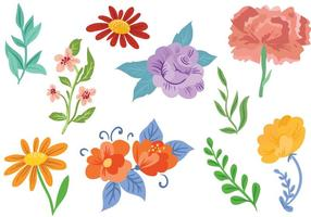 Flores libres 2 Vectores