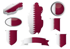 Gratis Qatar ikoner vektor