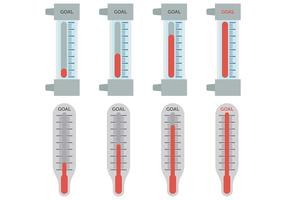 Free Goal Thermometer Icons Vektor