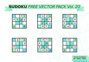 sudoku free vector pack vol. 20