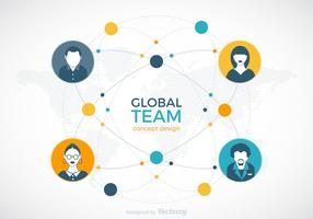 Globales Team-Vektor-Design