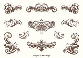 Vector Acanthus Design Elements