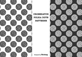 Motifs de vecteur de points de crosshatch