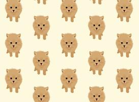 Pomeranian Dog Vector Pattern