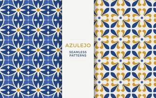 Azulejo Vector Patroon Set