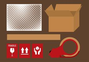 Bubble Wrap Shipping Set Vector