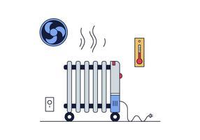Vettore gratuito del radiatore