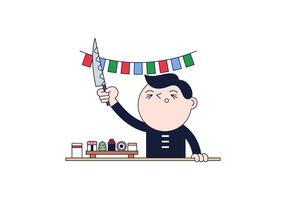 Vetor de sushi master gratuito