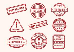 Vecteur de timbres top secret gratuit