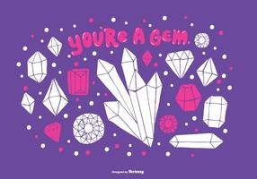 You're A Gem Vector Background