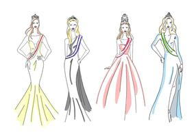 Free Pageant Girls vector