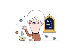 Gratis arabisk te vektor